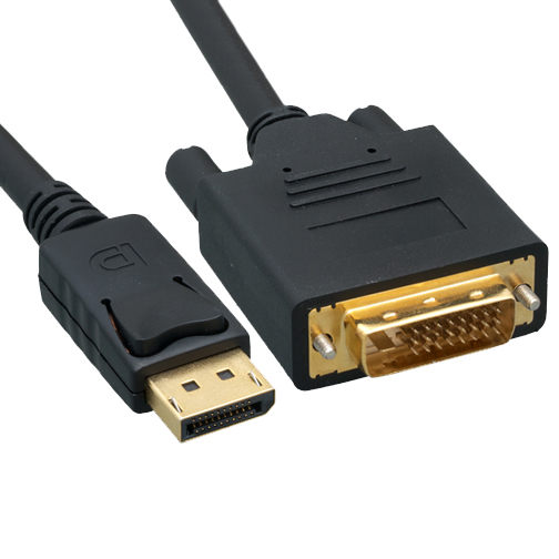 C-DPDMM: 3 to 15ft DisplayPort male to DVI male cable 28AWG CL3/FT4 BLACK