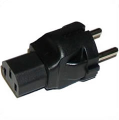 A-77C13MF: Schuko CEE 7/7 (Euro) male to C13 Female power adapter