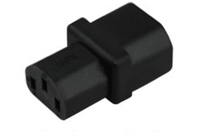 A-C1314FM: C14 Male to C13 Female power adapter