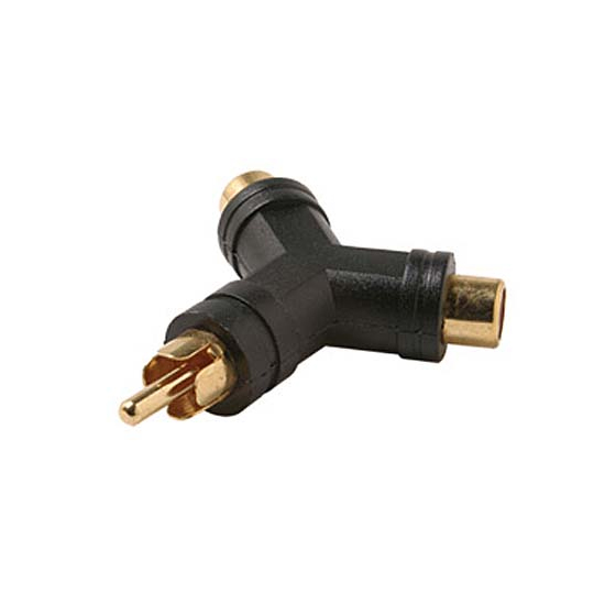 A-R2RMF: RCA male to 2 x RCA female adapter