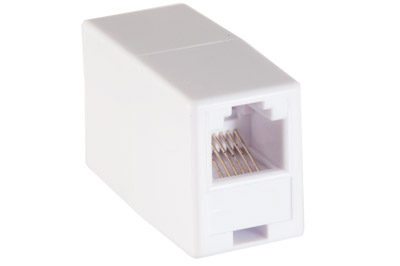 A-RJ1212FF: RJ12 female to female coupler - White