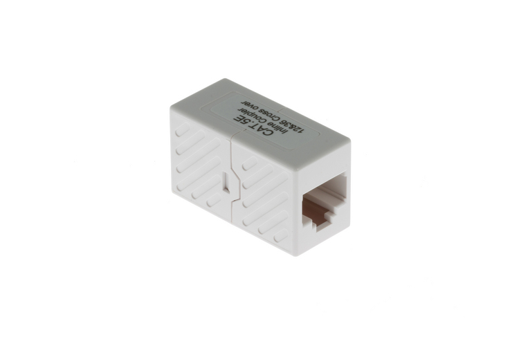 A-RJ4545FF-C: RJ45 Inline coupler, Cat5e CROSS-OVER