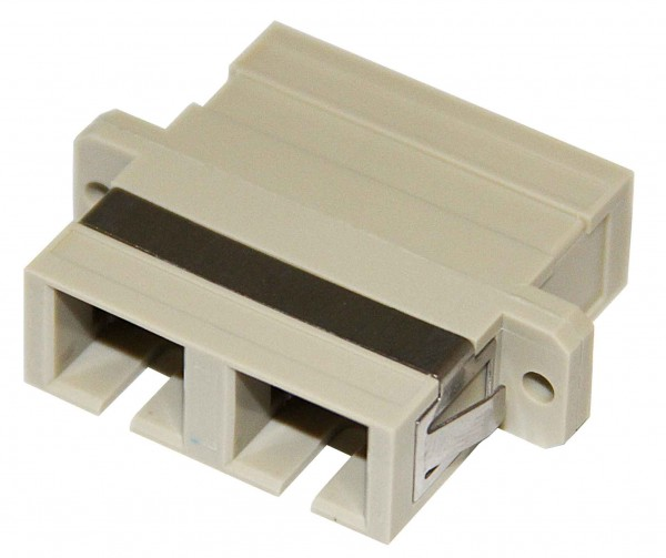 A-SCSCFF: SC/SC fiber coupler F/F multimode 62.5u duplex ceramic panel mount, beige
