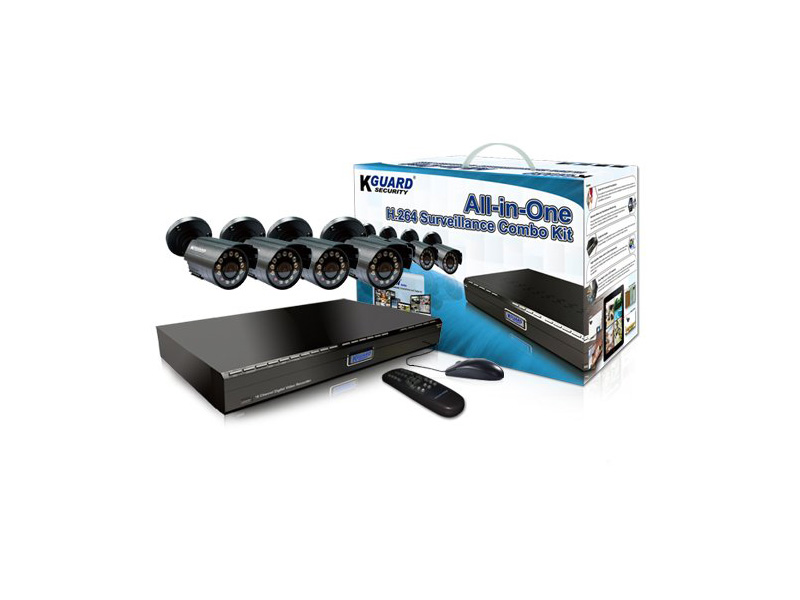 BR401-4CW154M: KGuard 4 Ch Analog Camera Surveillance Kit