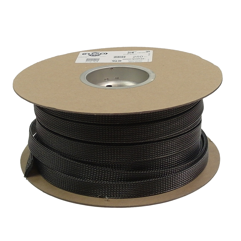 BS-PT075-250CB: 250ft 3/4 inch Sleeving Carbon