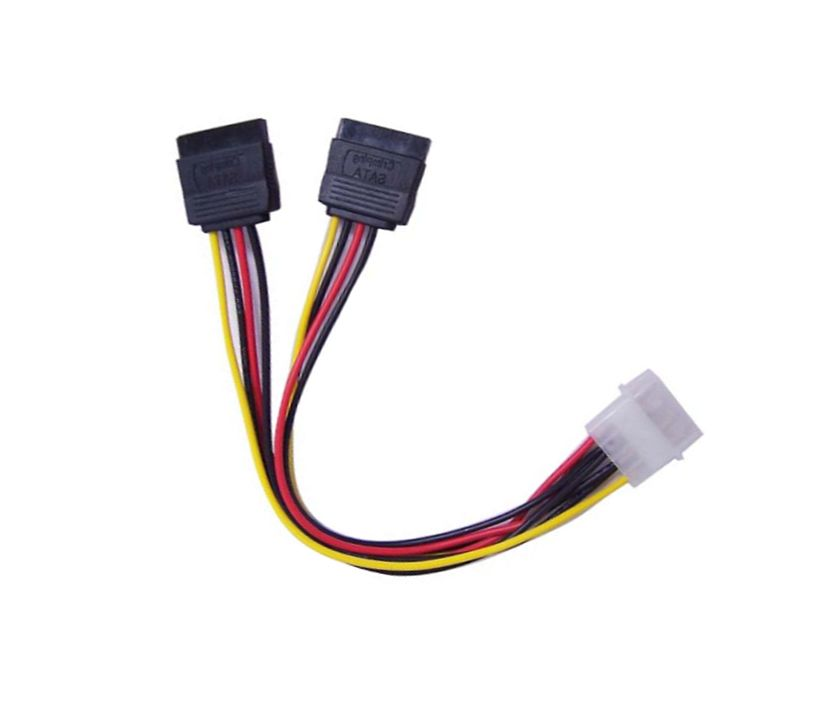 HF-CAB-SATA-P04: SATA POWER to SATA SPLITTER Cable