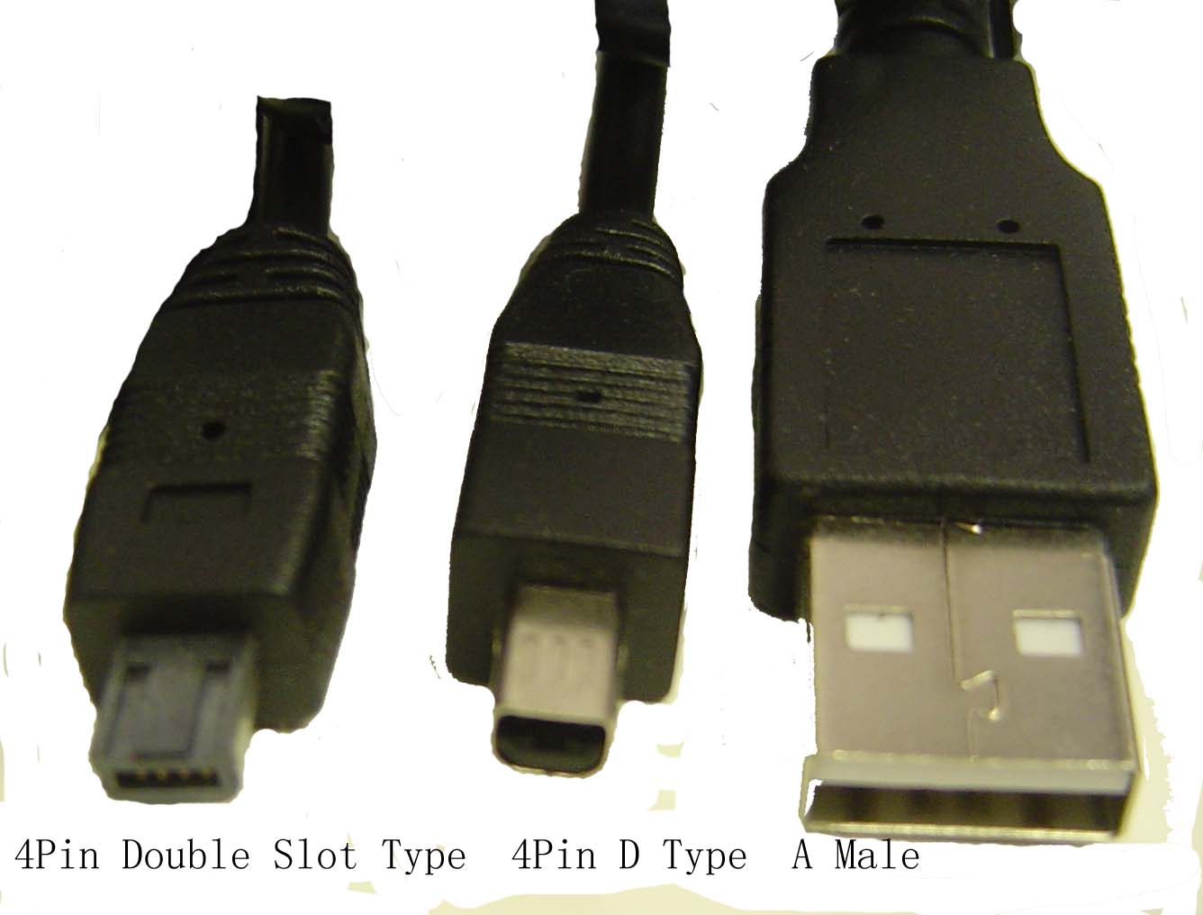 HF-CAB-USB-4P-DS: USB 2.0 A to Mini 4Pin Double Slot Type 5feet