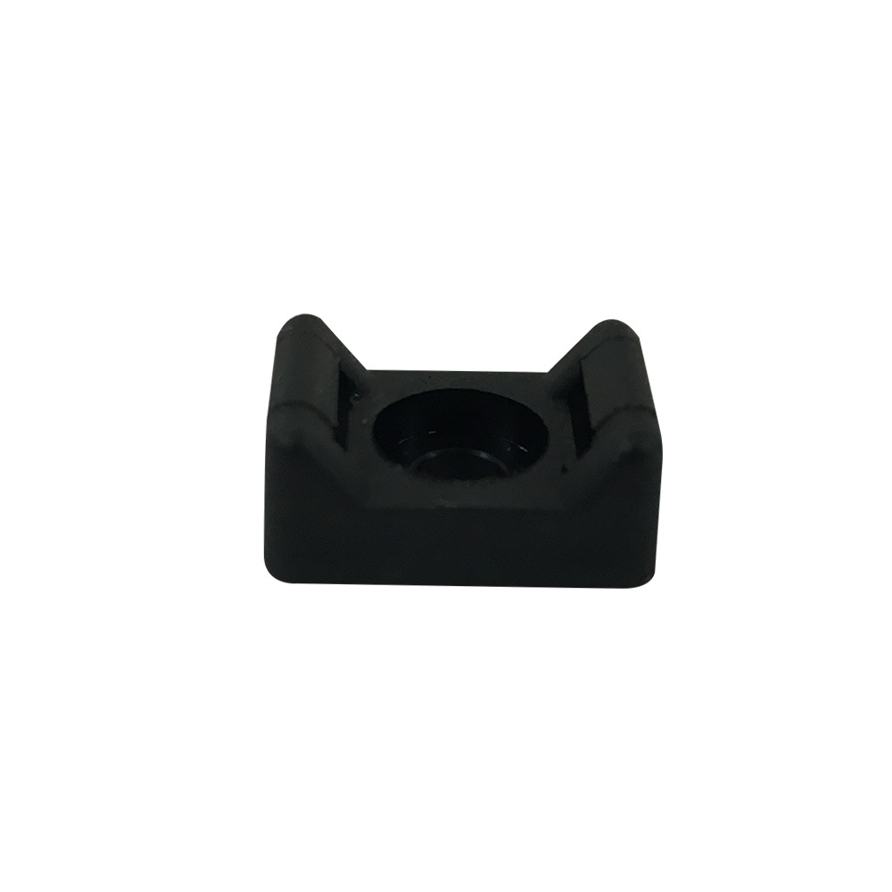 CT-SM01-BK: 100pk Cable Tie Screw Mount Base 15.2x9.4x6.8mm - Black - Click Image to Close