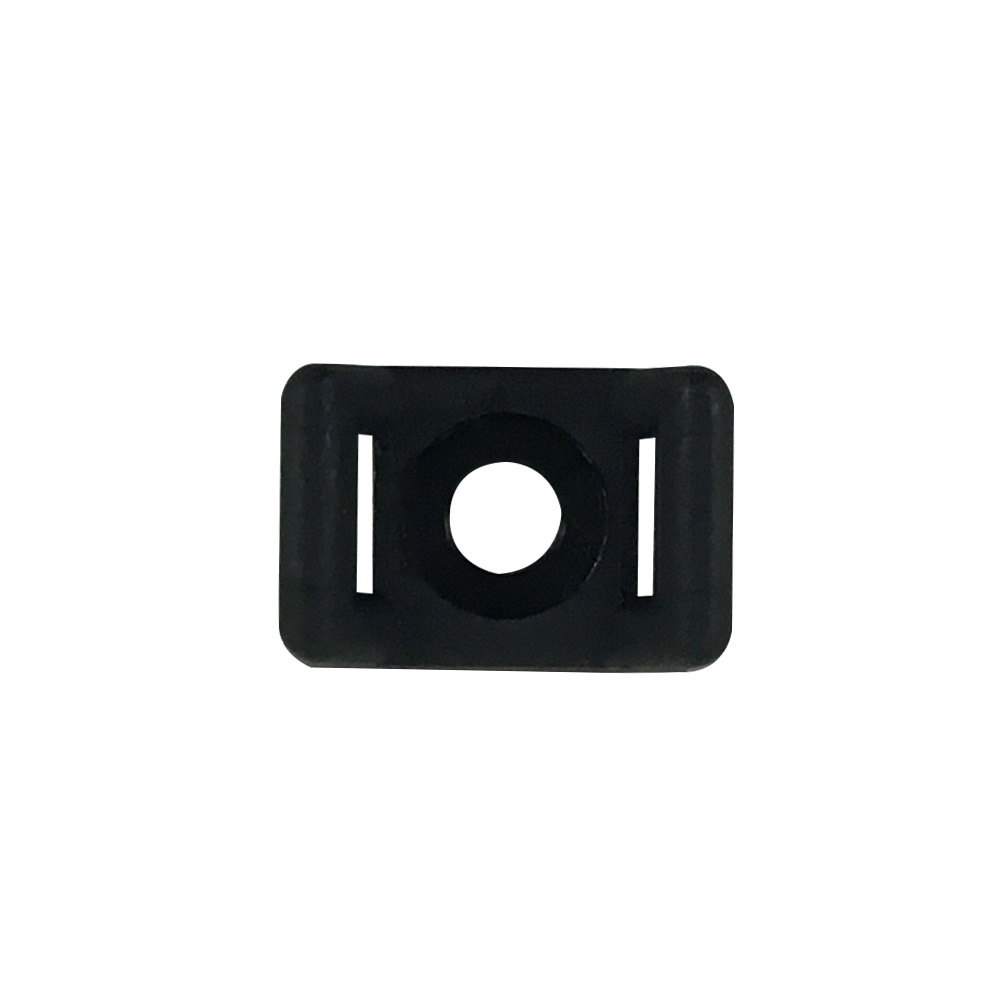 CT-SM01-BK: 100pk Cable Tie Screw Mount Base 15.2x9.4x6.8mm - Black