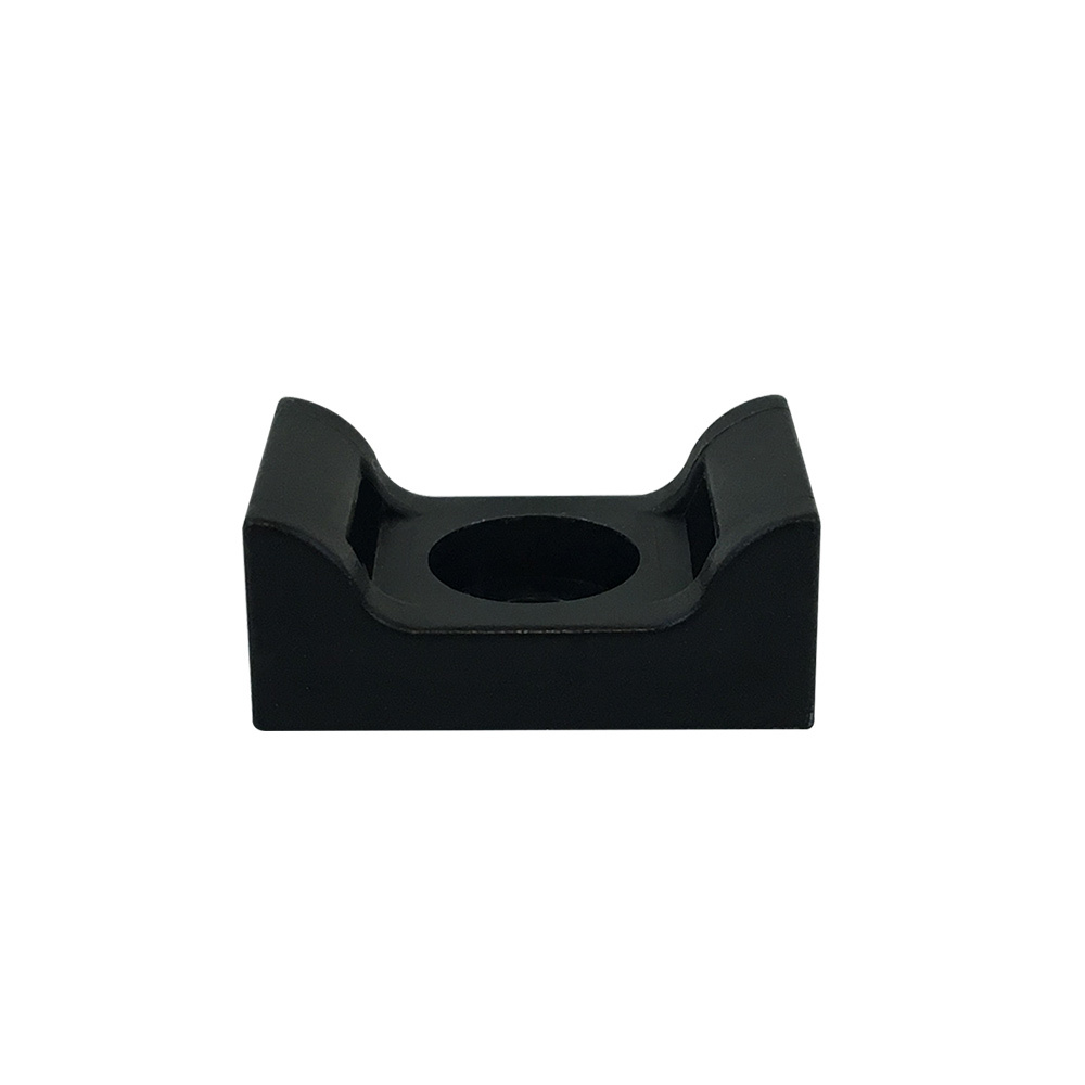 CT-SM02-BK: 100pk Cable Tie Screw Mount Base 17.8x12.7x7.5mm - Black