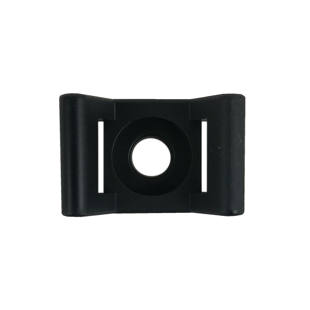 CT-SM03-BK: 100pk Cable Tie Screw Mount Base 22.0x16.2x9.6mm - Black