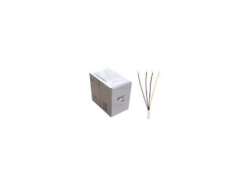 Cab-Alarm-17-0024-4c-1000Ft: Telphone/alarm wire 24AWG Cooper+Clad+Aluminum , Low Voltage power 1000ft