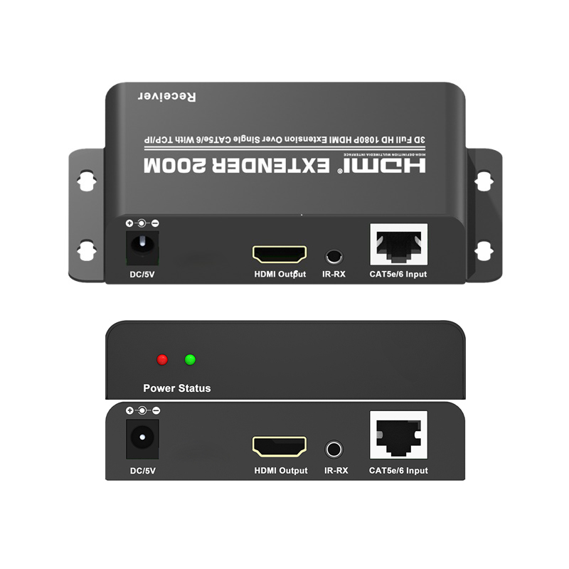 HSIP-R: HDMI over TCP/IP CAT5 Receiver w/IR RX/Power Adapter for HSIP-xx series