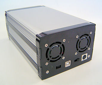 "HF-ENC-EN366S: Dual 3.5"" SATA &SATAII HDD to USB2.0 Enclosure"