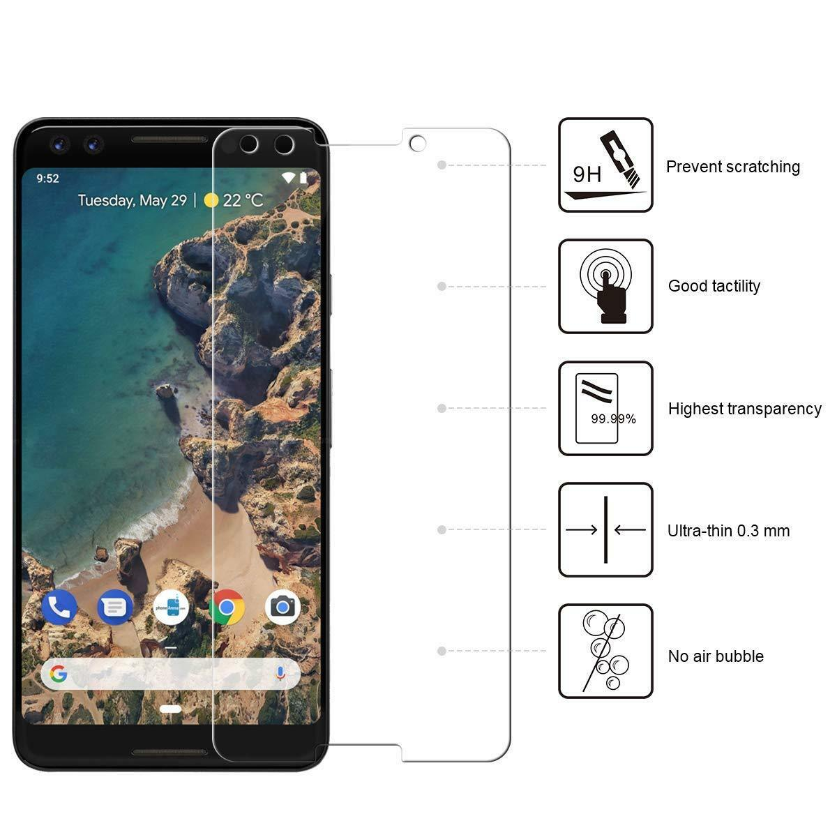 GGP-TG: Premium Tempered Glass Screen Protector for Google Pixel