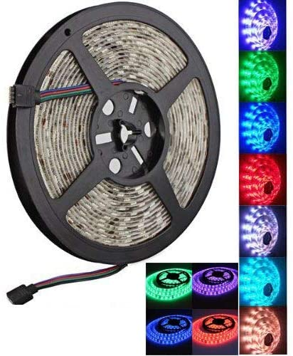 HF-5050LED5M: 5M / 16.4 ft 5050 SMD 300 RGB LED Strips Light Lamp Party Decor 60 LEDs per Meter NOT Included Remote Controller