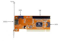 HF-CARD-MM-V6421: PCI to 1 eSATA/ 2 SATA/ 1 IDE CARD w/Raid