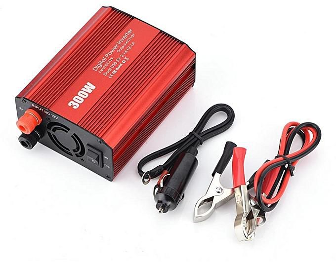HF-CIP-300: 300W Power Inverter DC 12V to AC 110V Converter with 4.2A Dual USB Ports Car Adapter Vehicle Power Supply