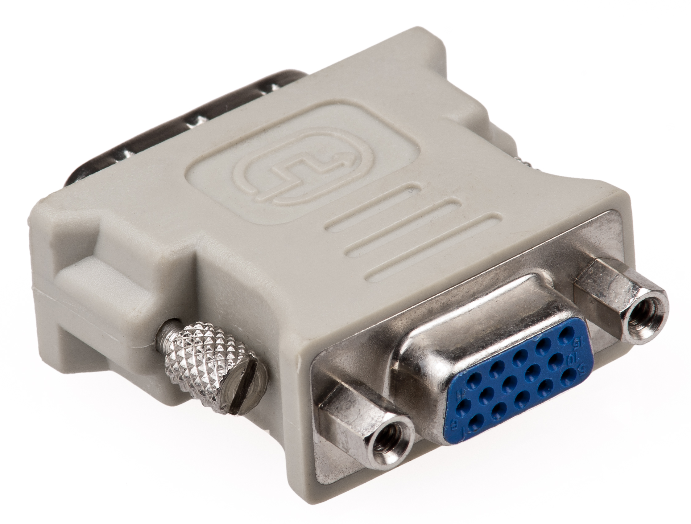 HF-DVI-VGA-MF: DVI to VGA adapter M/F (24+1)
