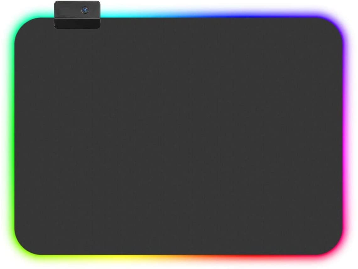 HF-IMMP04: Mouse Pad RGB, LED Lighting Effects Gaming Mice Pad Mat 14in*10in Non-Slip Rubber Base