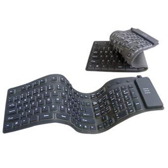 HF-KB-LK-603RL: Foldable Roll Keyboard USB+PS/2 (Full Size)