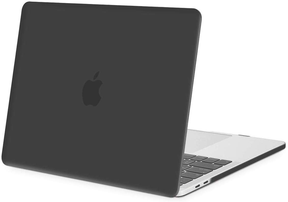HF-MBP-BSC: MacBook Pro 13 Case 2019 2018 2017 2016 Release A2159 A1989 A1706 A1708, Plastic Hard Case Shell Cover Compatible with MacBook Pro 13 Inch with/Without Touch Bar and Touch ID, Black