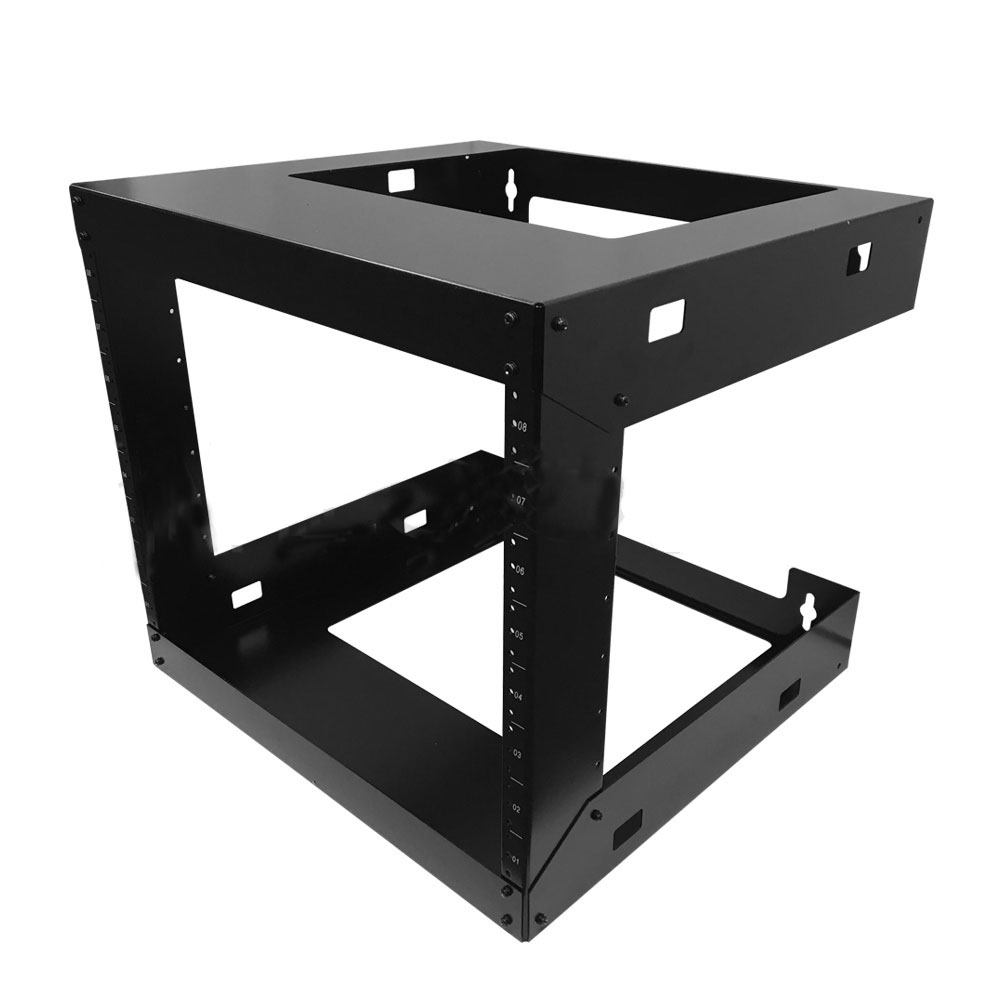 HF-OFW-8U: 19 inch Open Frame Wall Mount Rack - 18 inch Depth - 8U