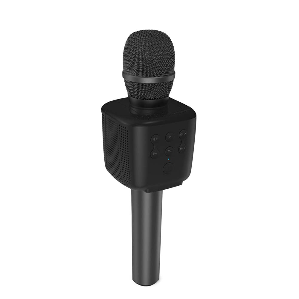 HF-Q15B: Portable Karaoke Microphone Wireless Bluetooth Speaker Handheld Music Player KTV Travel Support TF card