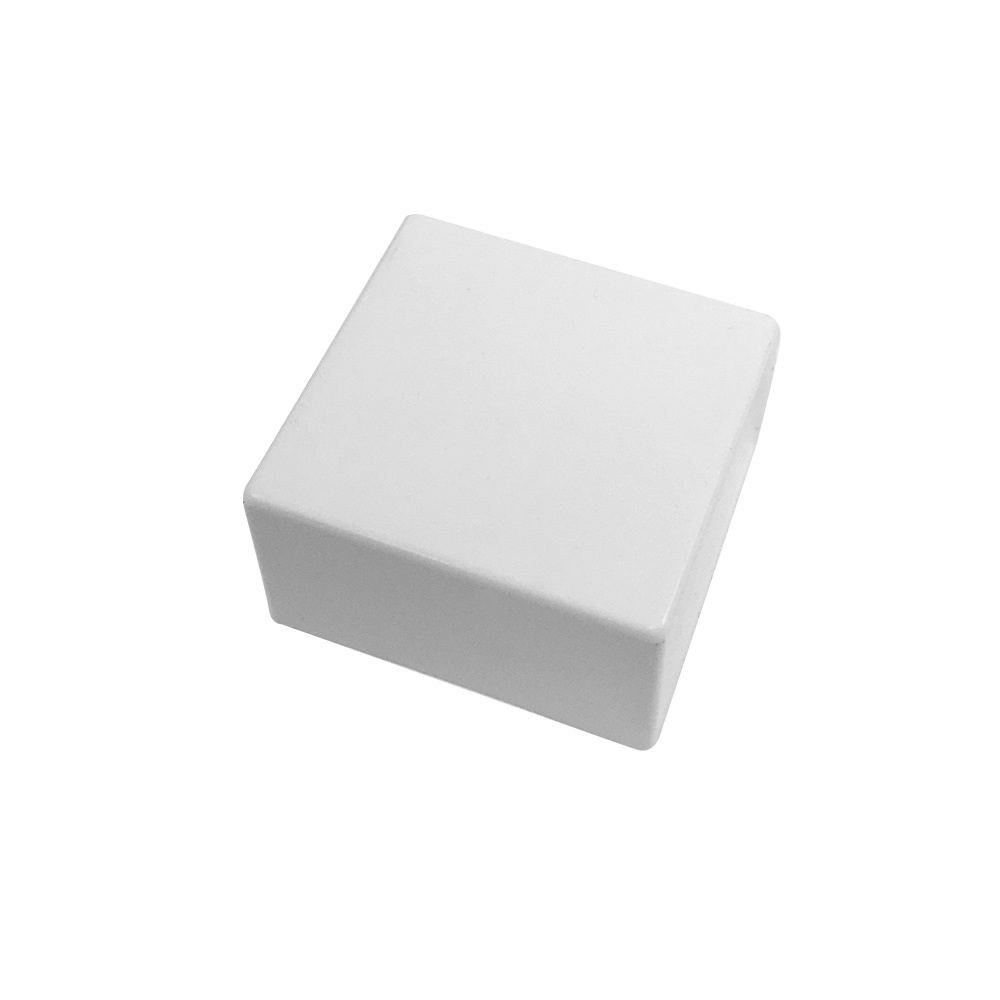 HF-RW-5050E-WH: End Cap for 50mm x 50mm Raceway - White