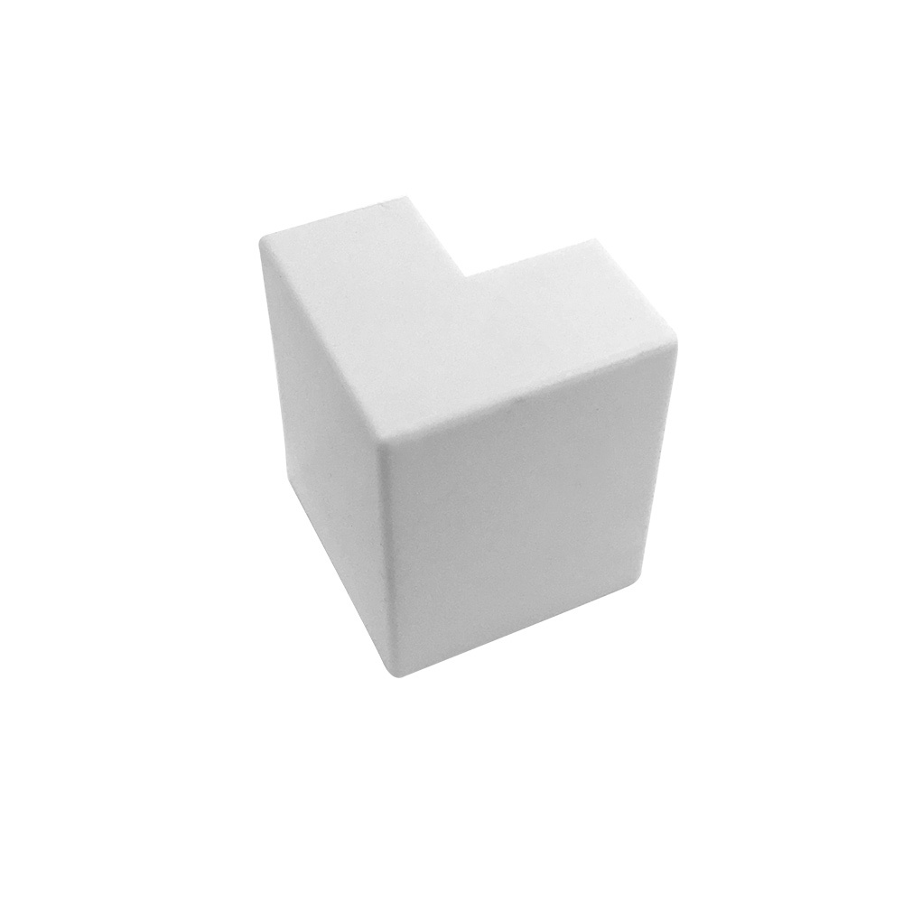 HF-RW-5050U-WH: Outside Corner for 50mm x 50mm Raceway - White