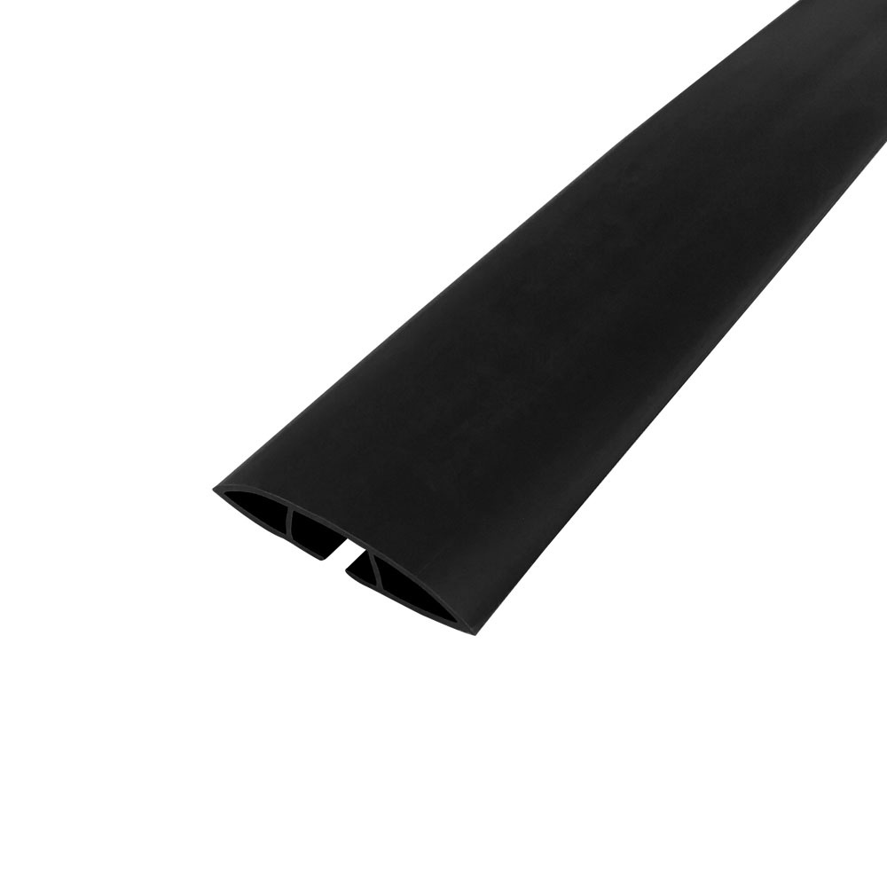 HF-RW-FT100-BK: Floor Track Cord Cover with Adhesive Tape - Black