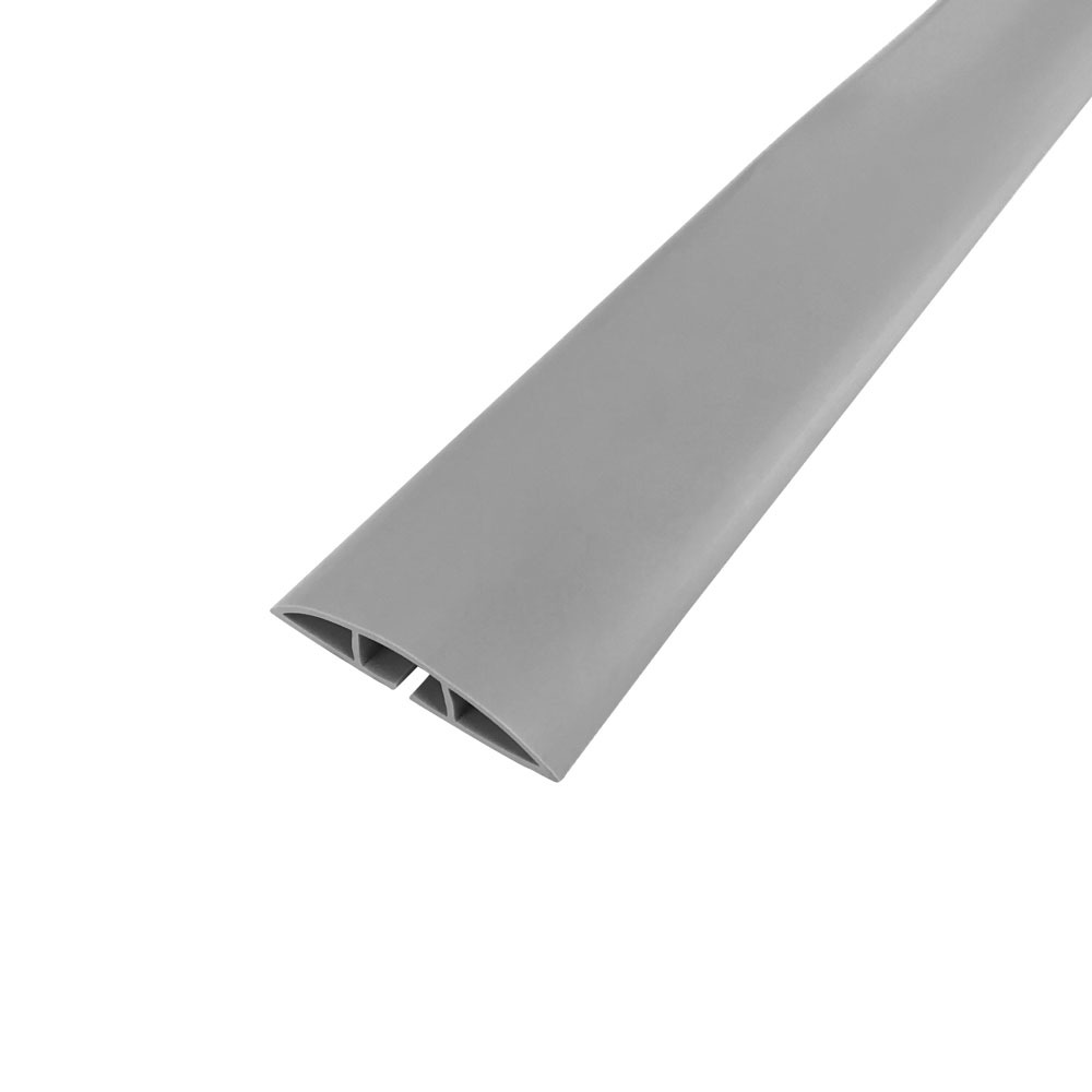 HF-RW-FT100-GY: Floor Track Cord Cover with Adhesive Tape - Grey