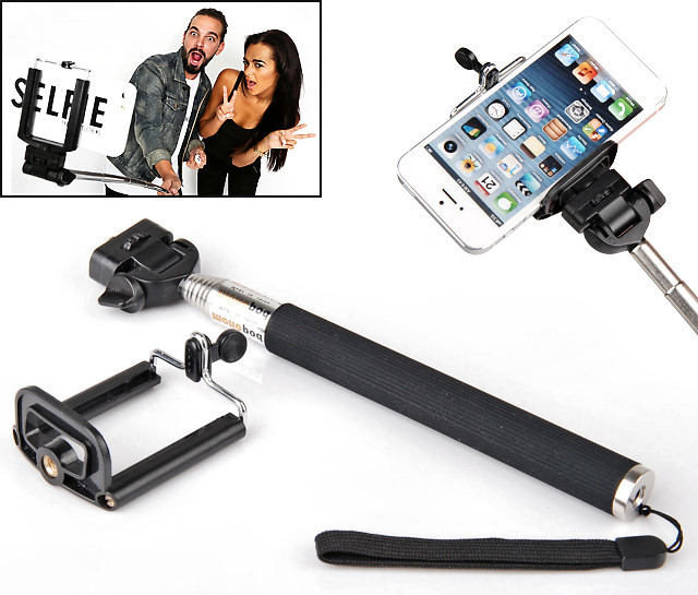HF-SELFIE-STIC: Selfie Handhold Stick for Cellphone Extending from 27cm to 112cm