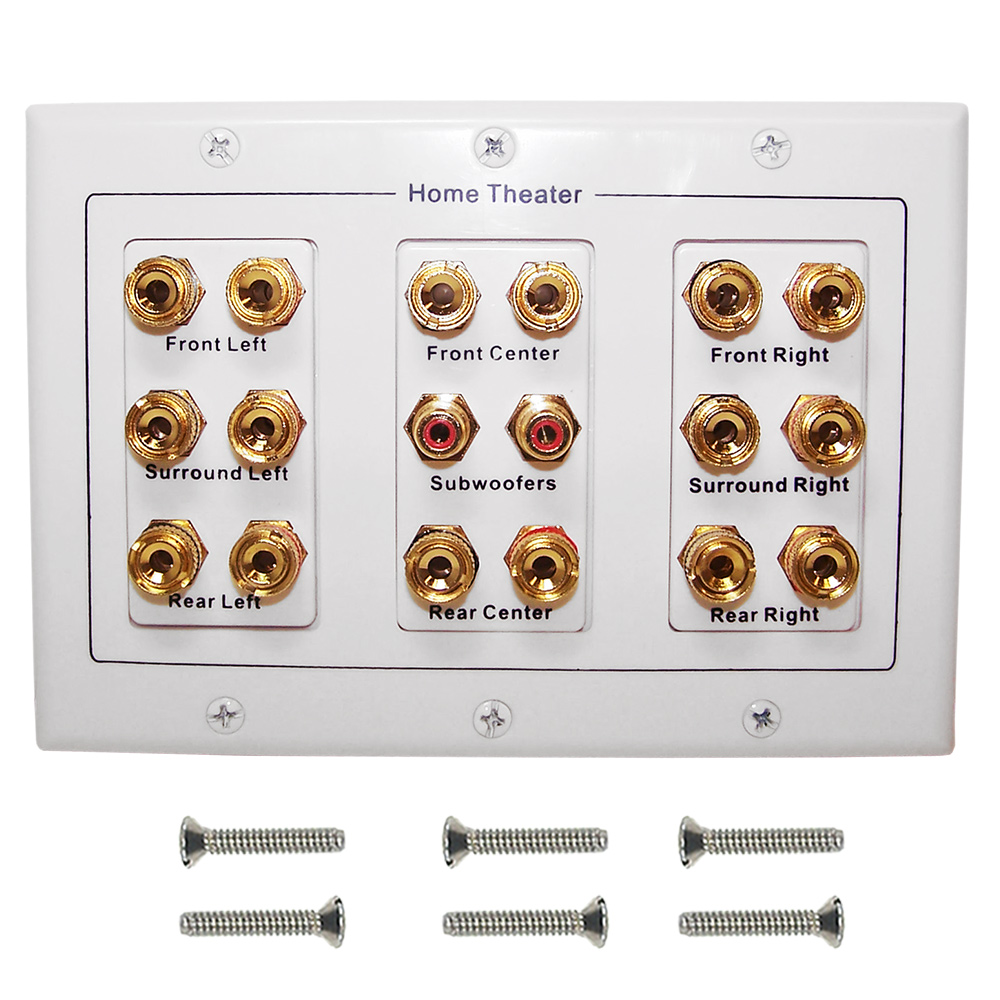 HF-WPS82: 8.2 Surround Sound Wall Plate Kit - White