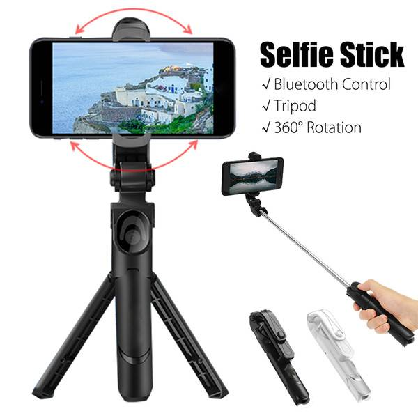 HF-XT9: 3 in 1 Bluetooth Selfie Stick Tripod Remote Handheld Monopod - Button Battery
