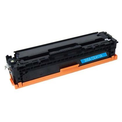 HP CE411A: Cyan Toner Cartridge CE411A (305A) Compatible Remanufactured for HP CE411A Cyan