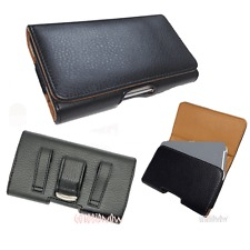 S3F-1: Samsung Galaxy S3 PU leather cover case/ Black_ Belt Clip