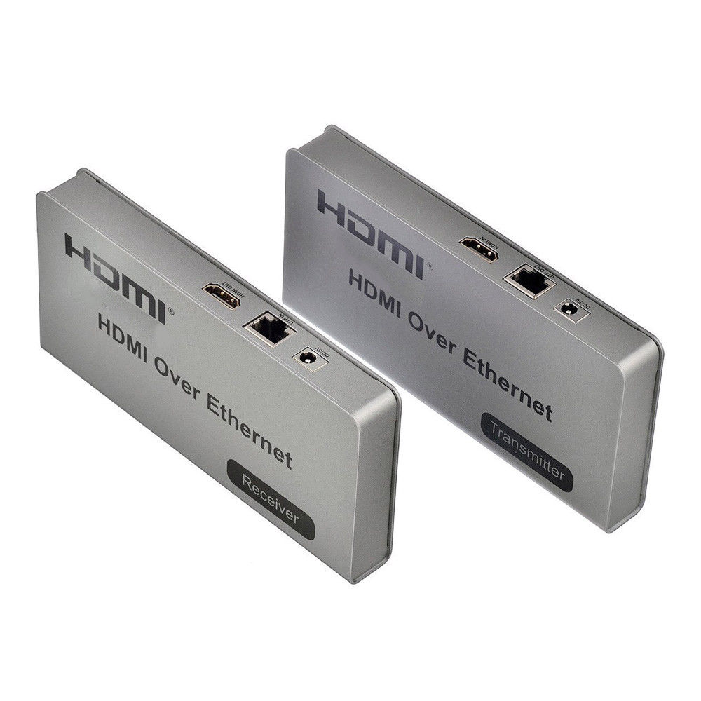 KE120-HU: HDMI USB KVM Extender Over Network CAT5 TCP/IP 120M with IR - Click Image to Close
