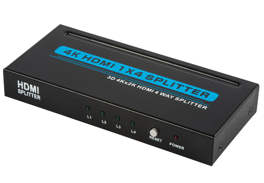 LU612H: HDMI 1.4 4 ports Splitter with Full 3D and 4Kx2K(340MHz)