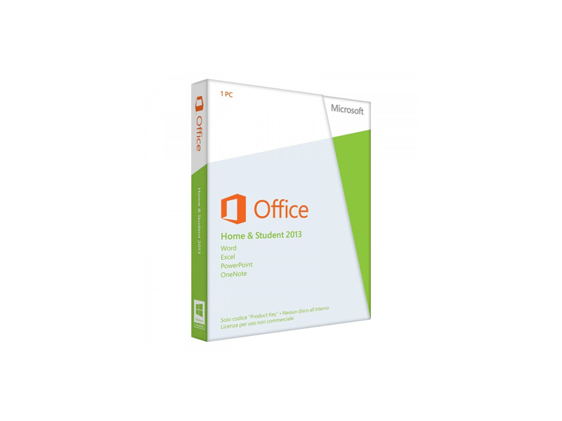 SW-MS-Office-2013-HS-PkC: Microsoft Office 2013 Home and Student English , PKC ( 1 User)