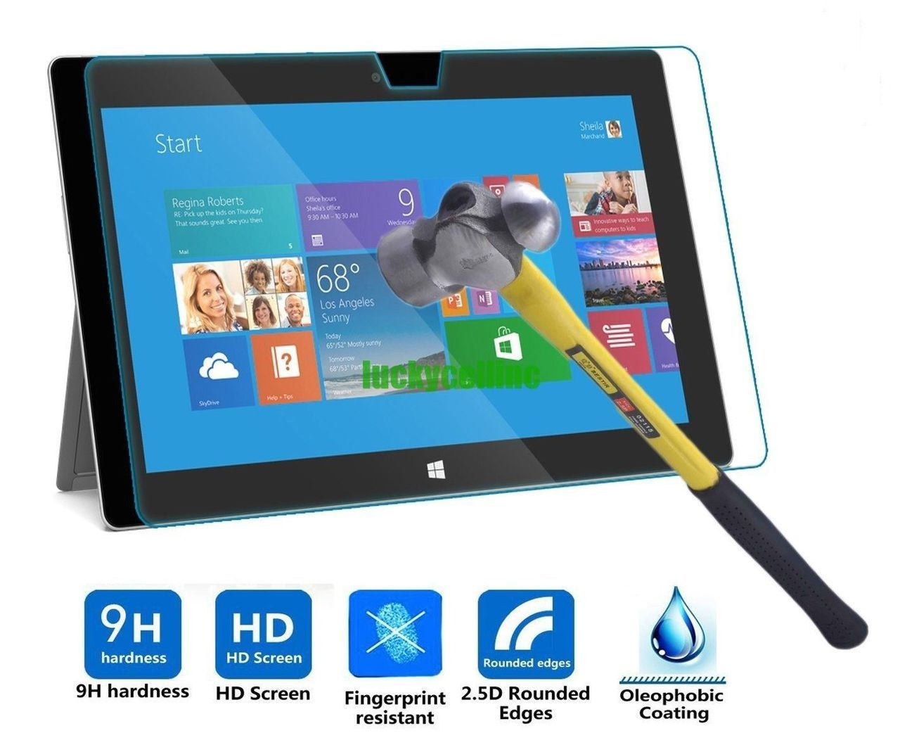 "MSP-TG: MICROSOFT SURFACE PRO 3/4/5/6 12.3"" TEMPERED GLASS SCREEN PROTECTOR"