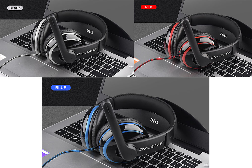 Ovleng P4: E-sports Surround Stereo Gaming Headset with Mic Headphone for Mobile,PC and any other 3.5mm devices