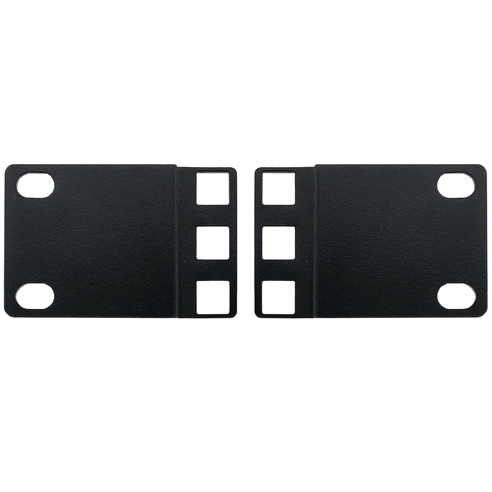 RM-650-1U: 1U 23 inches to 19 inches Reducer Panel Adapter, Square Hole - Black (Pair)