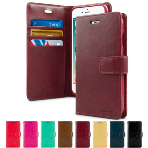 SAMP-GPBD-C: Goospery BlueMoon Diary Leather Slim Card Case For Samsung Smart Phone