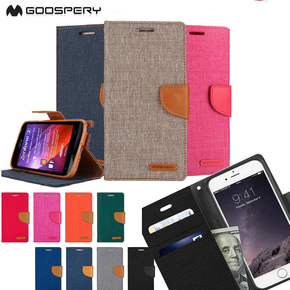 SAMP-GPCD-C: Goospery Canvas Diary Slim Card Case For Samsung Smart Phone