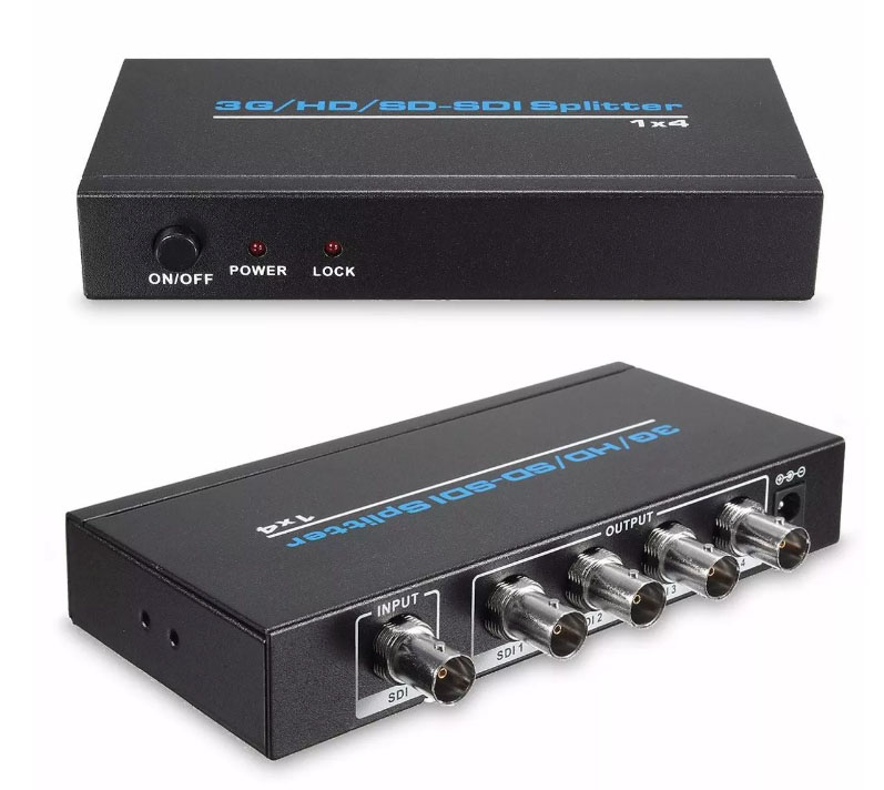 SS104: 1x4 3G SDI Splitter & Repeater