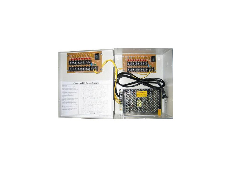 Sec-PW-Box-18Ports: 18 Port Power Box 10A