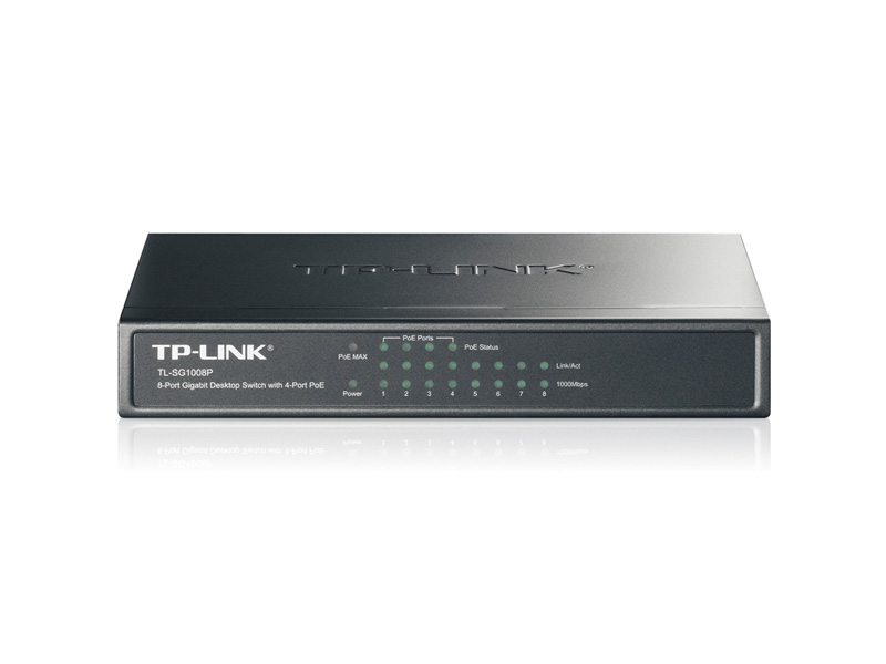 TL-SG1008P: 8-Port Gigabit Desktop Switch with 4-Port PoE