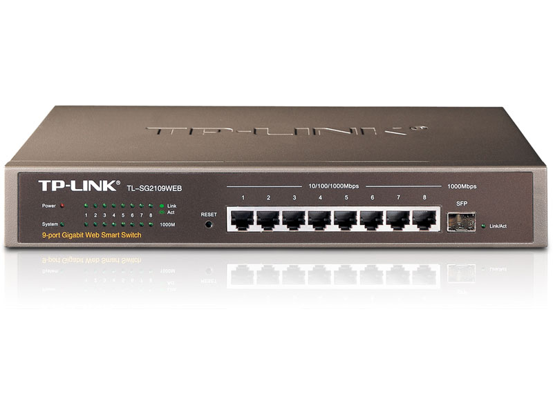 TL-SG2109Web: 8-Port Gigabit Web Smart Switch with 1 SFP Slot