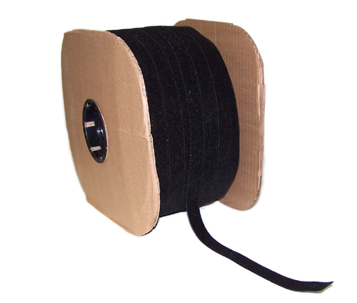 VL-BK50-600BK: 600ft 1/2 inch Rip-Tie WrapStrap - Black
